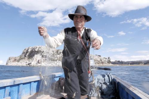 Peche sur le Lac titicaca