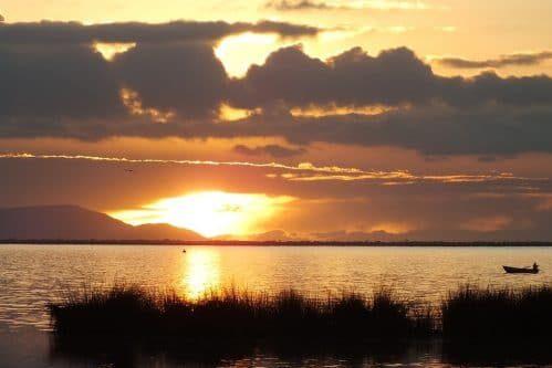 coucher de soleil lac titicaca