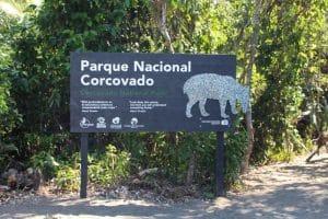 Panneau parc du Corcovado