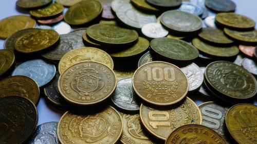 Pieces de monnaie costariciennes