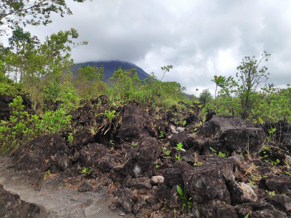 coulee de lave au Costa Rica