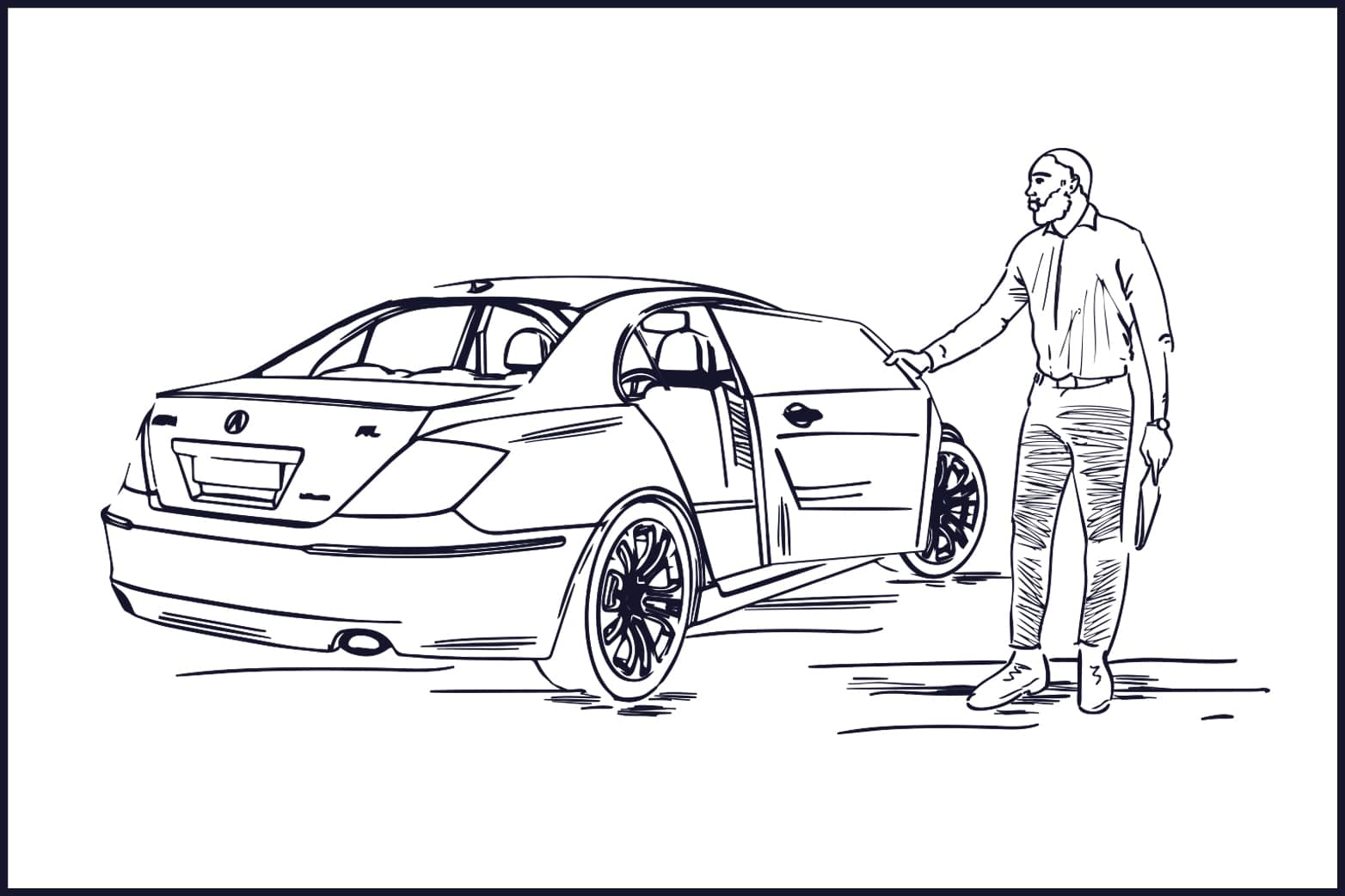 illustration chauffeur privé