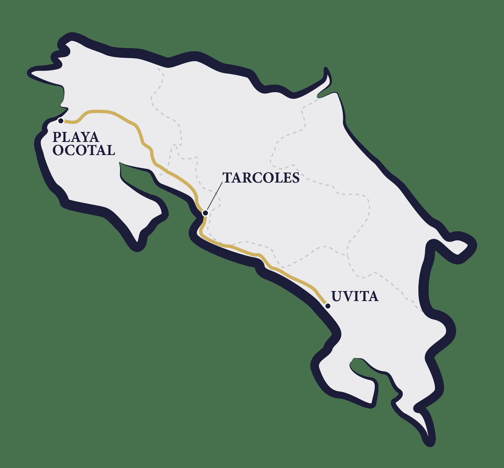 carte circuit Costa Rica
