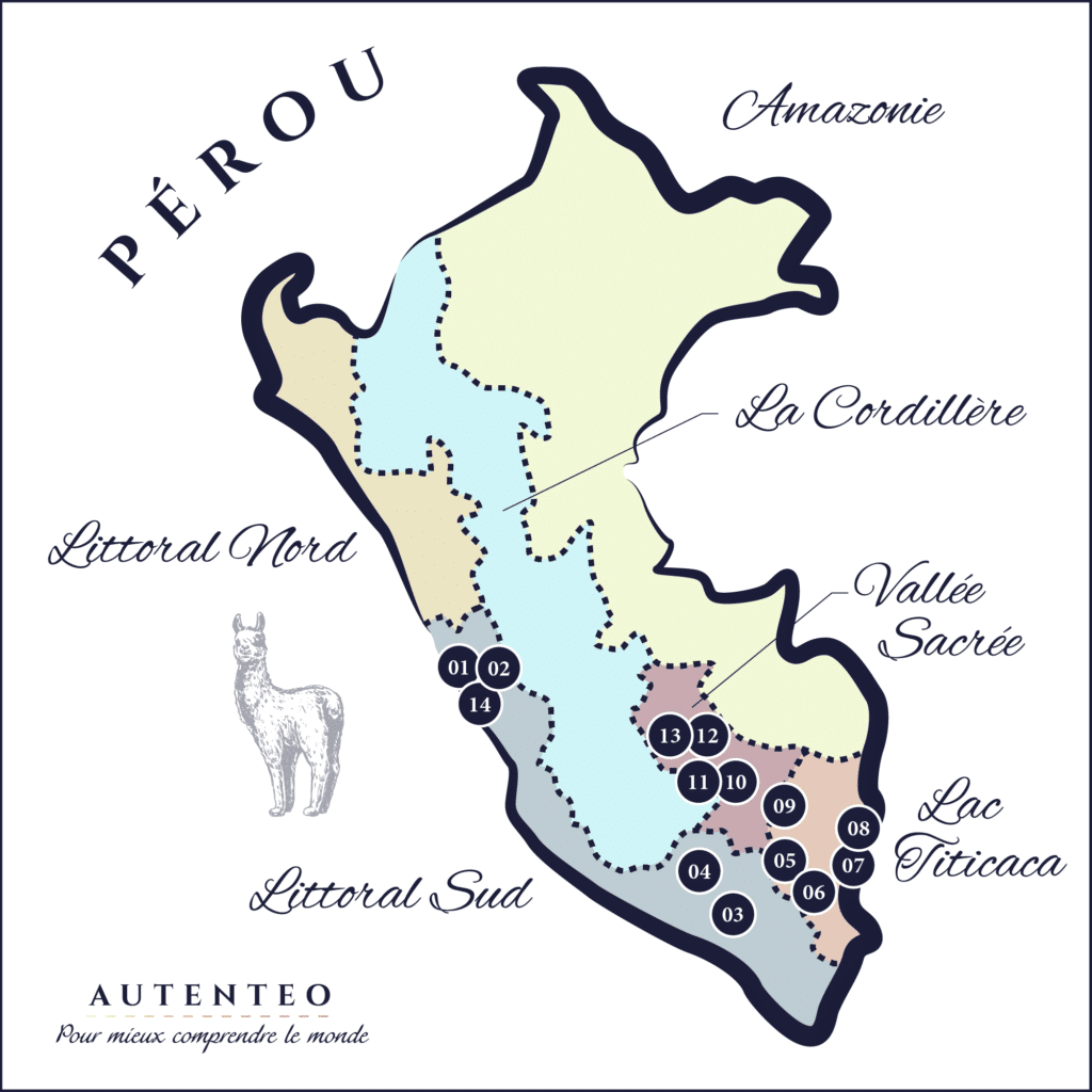 Carte du Circuit 15 Jours Pérou autenthique