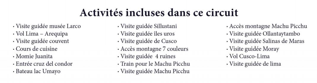 liste inclu