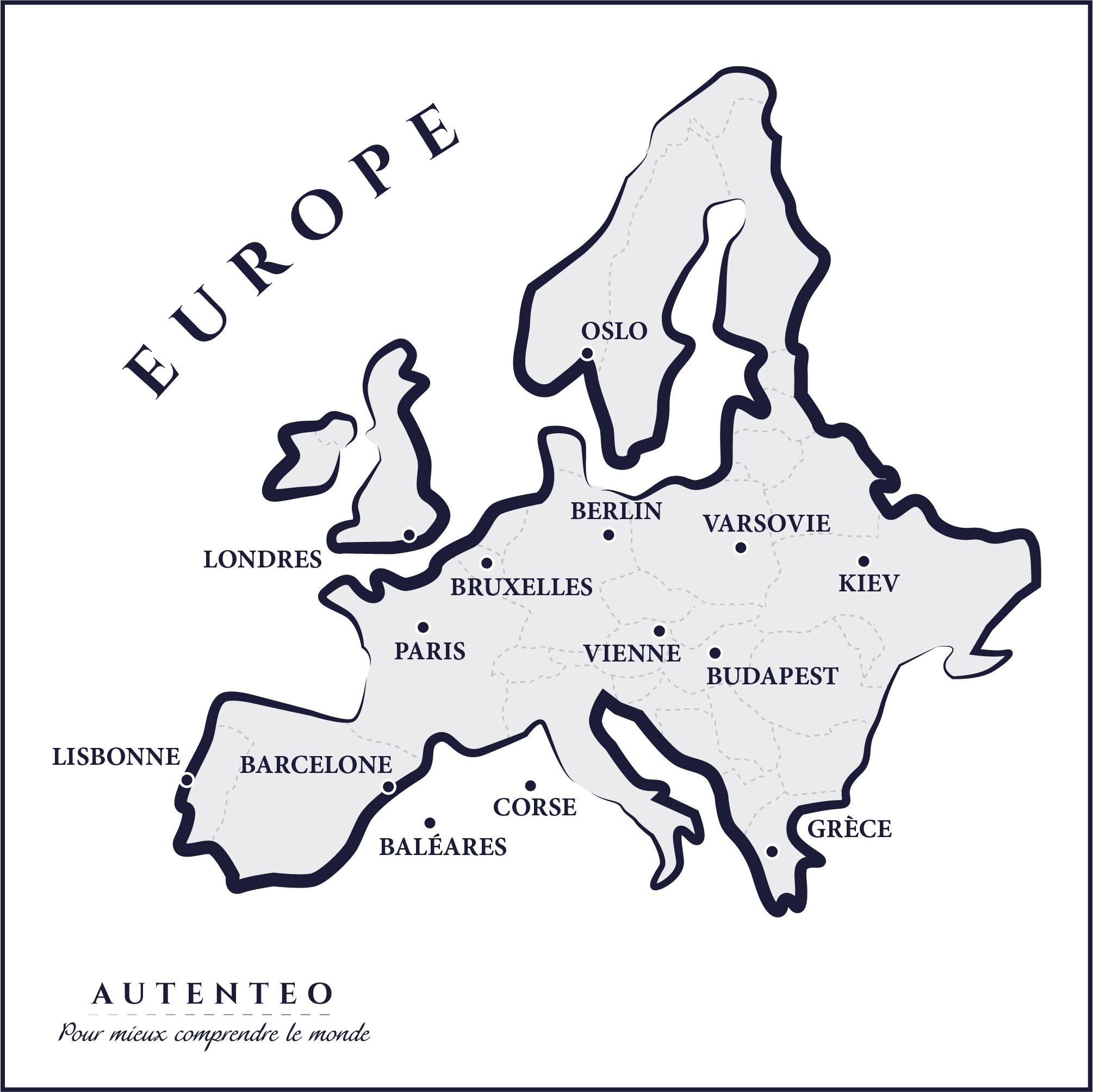 carte europe carré