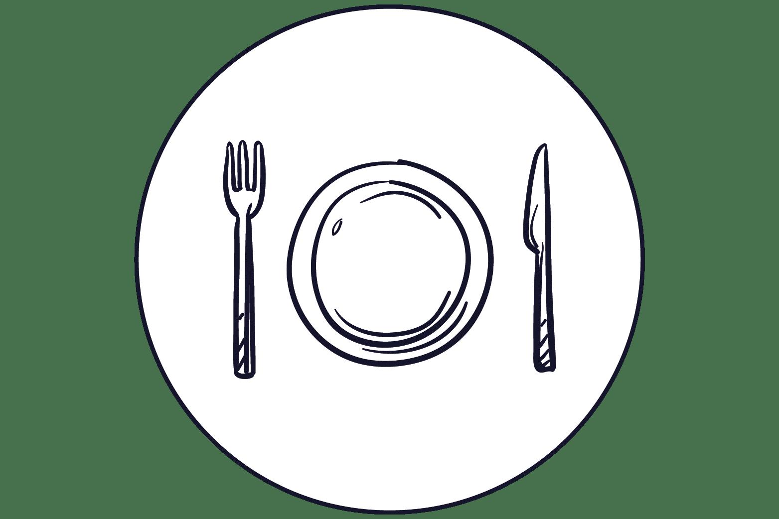 illustration assiette