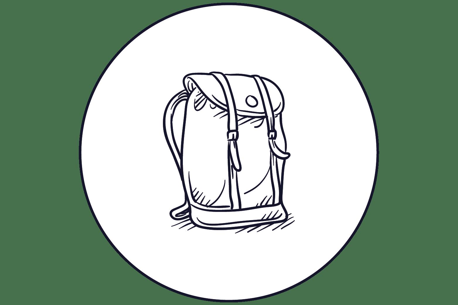 illustration sac à dos