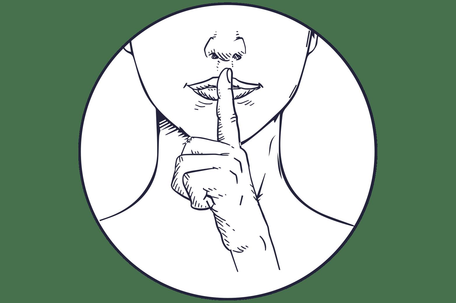 illustration silence