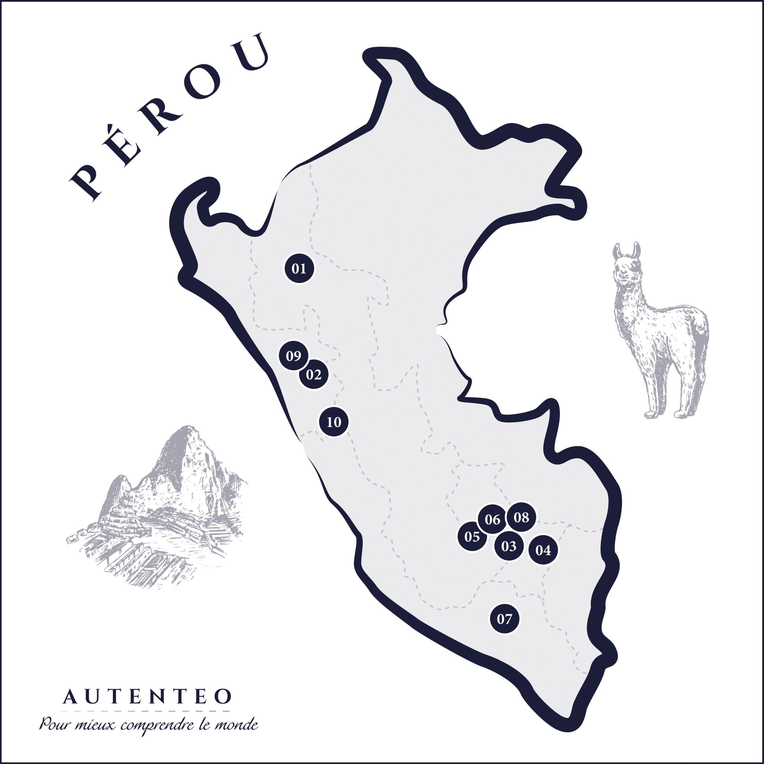 carte trek au Pérou