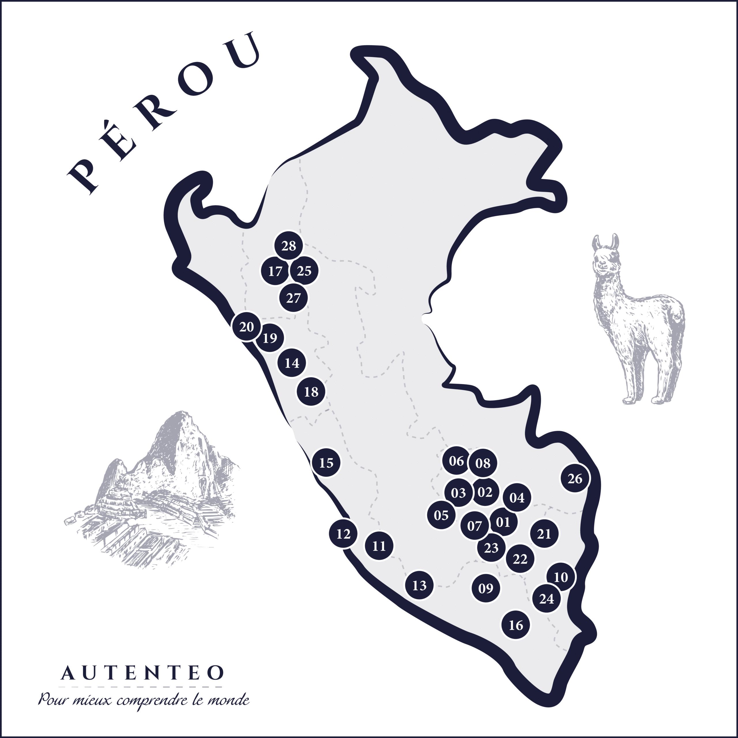 carte que faire au Pérou
