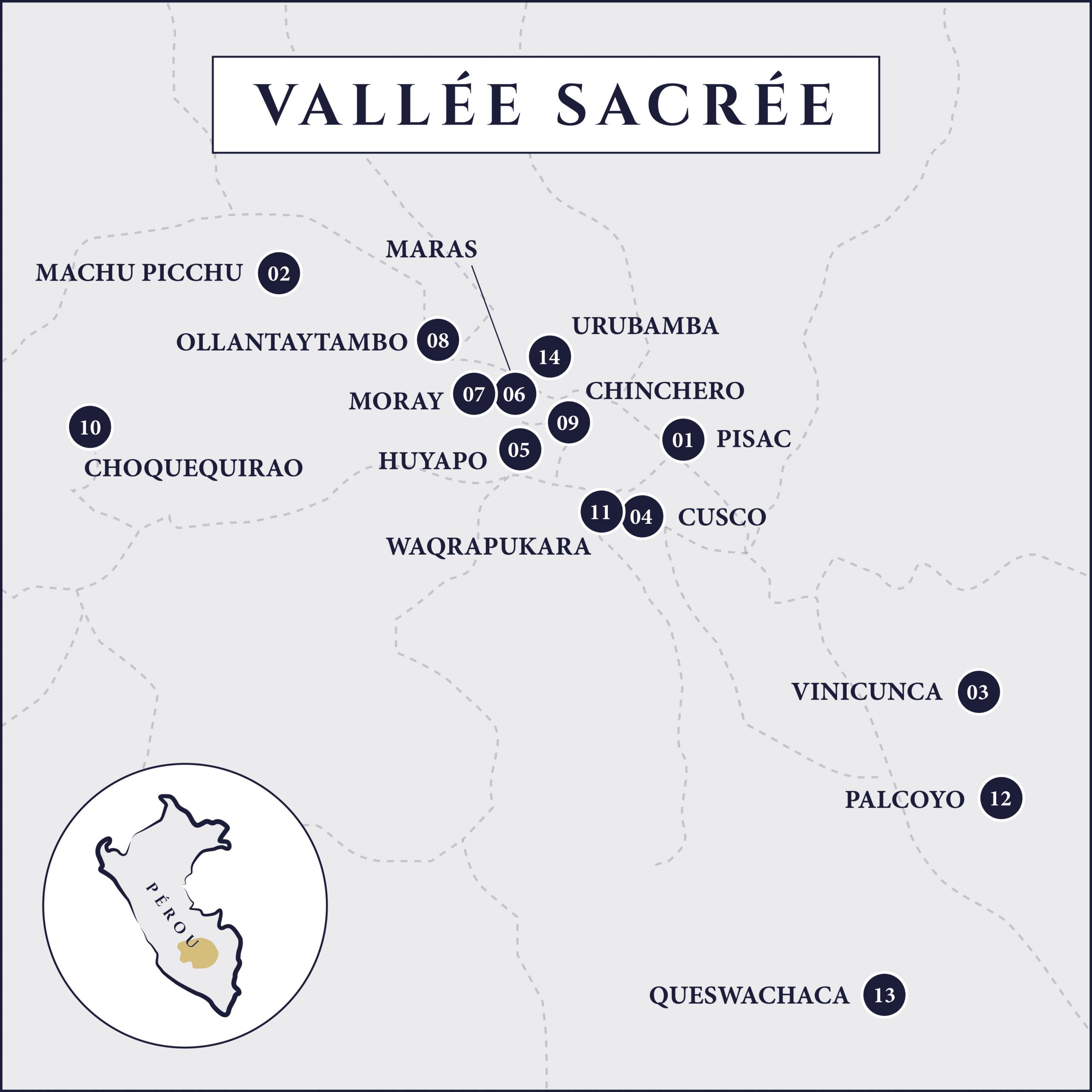 carte vallée sacrée