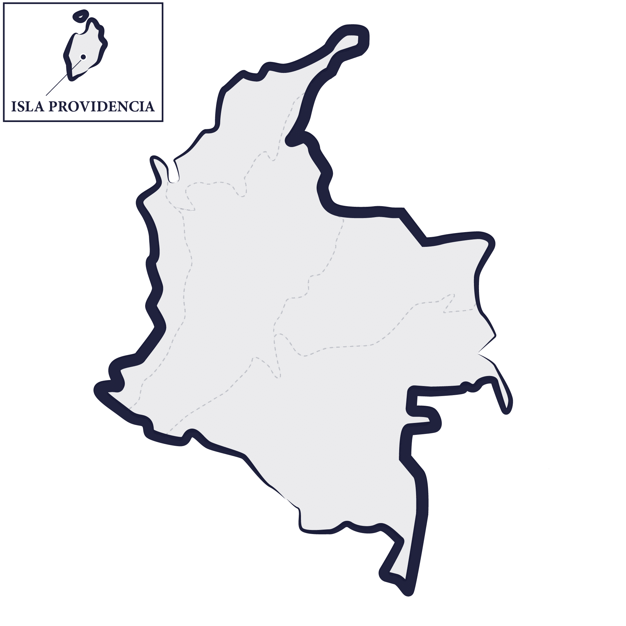 carte colombie providencia