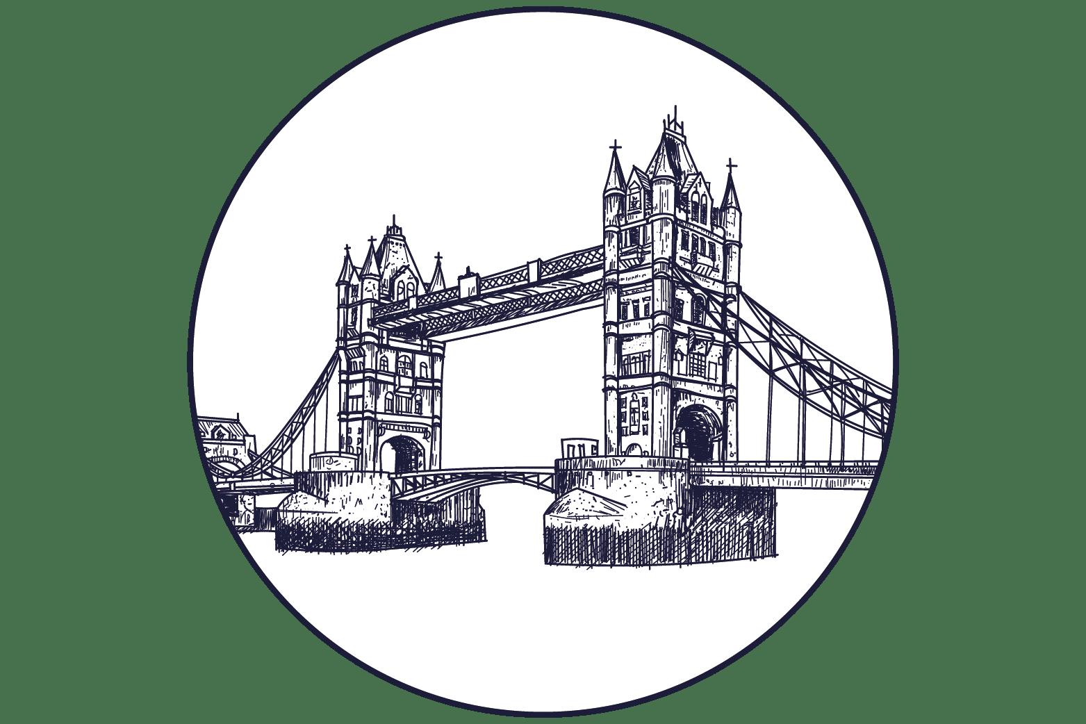 symbole pictogramme londres pont
